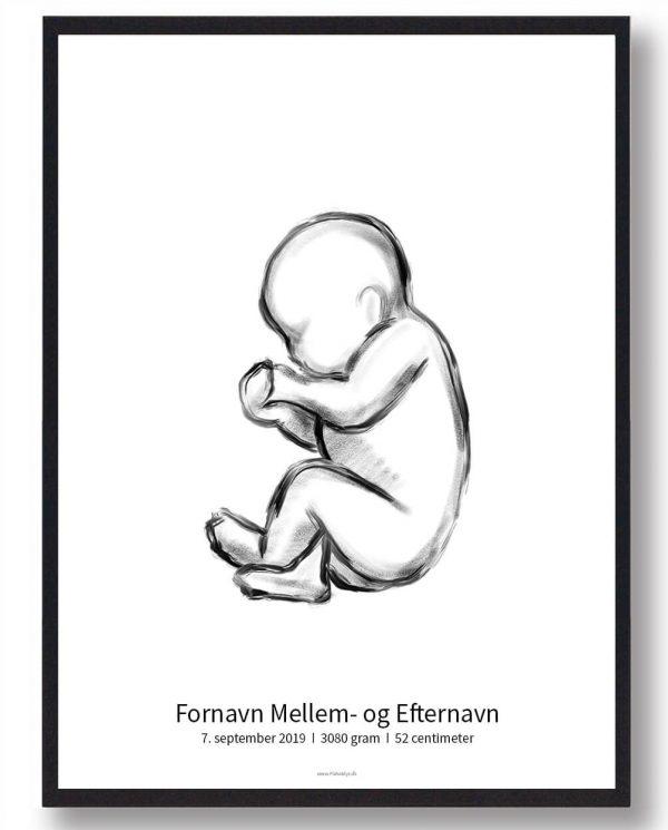 1:1 Fødselsplakat