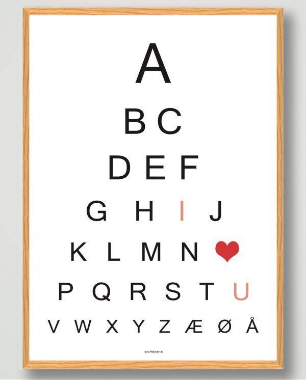 ABC - I love U - plakat