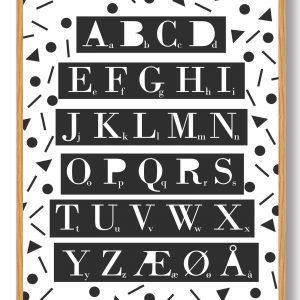 ABC-plakat (hvid)