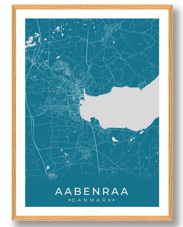 Aabenraa plakat - blå