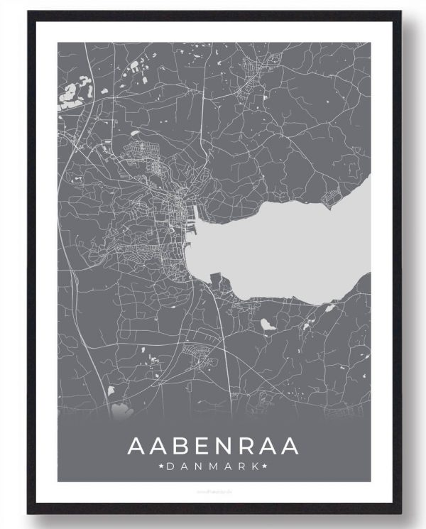 Aabenraa plakat - grå