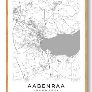 Aabenraa plakat - hvid