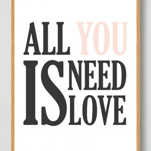 All you need is... - plakat