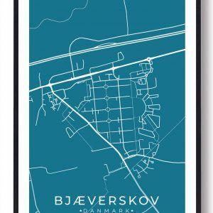 Bjæverskov byplakat - blå