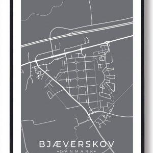 Bjæverskov byplakat - grå