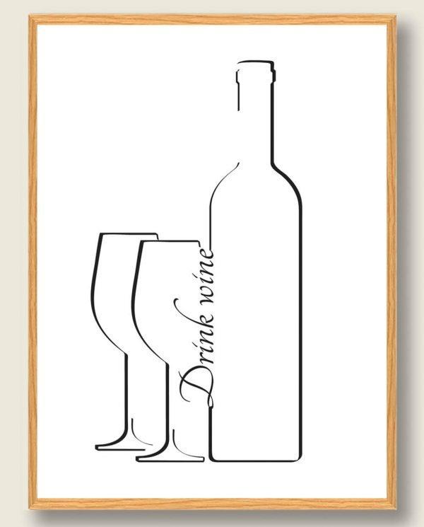 Drink vine - vinplakat