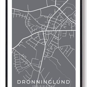 Dronninglund byplakat - grå