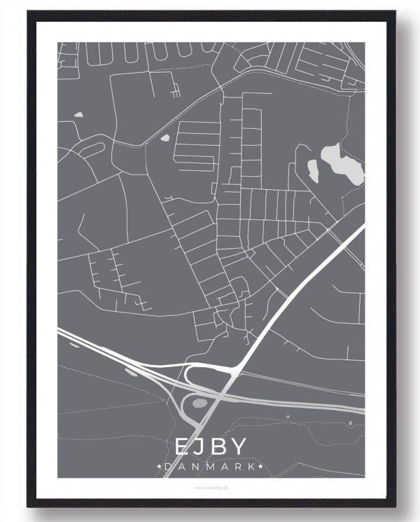 Ejby byplakat - grå