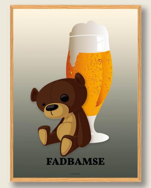Fadbamse - ølplakat