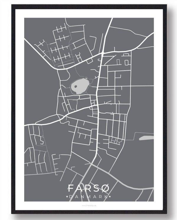 Farsø byplakat - grå