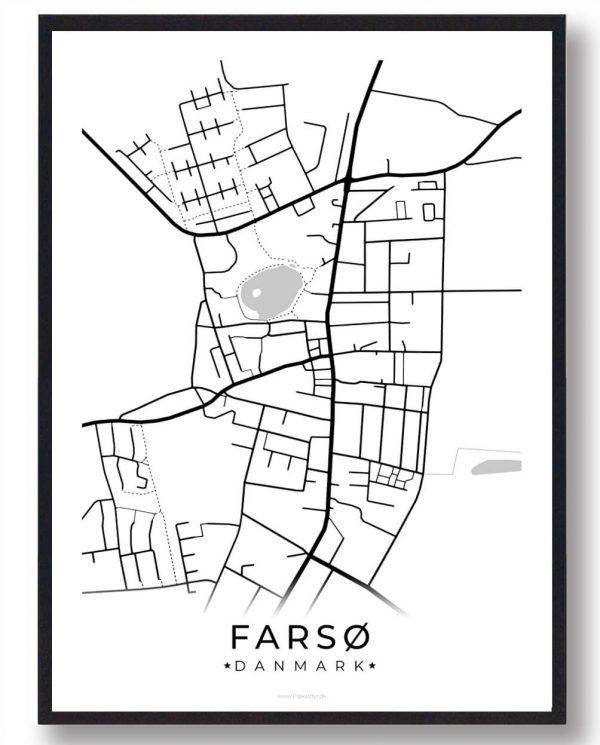 Farsø byplakat - hvid