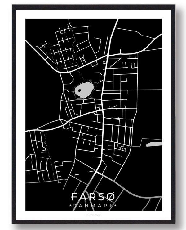 Farsø byplakat - sort
