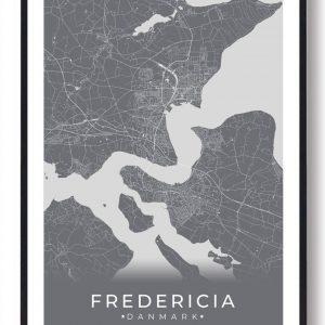 Fredericia plakat - grå