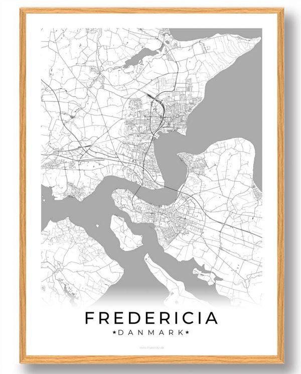 Fredericia plakat - hvid