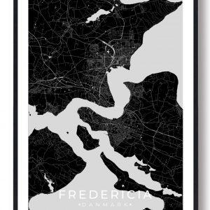 Fredericia plakat - sort