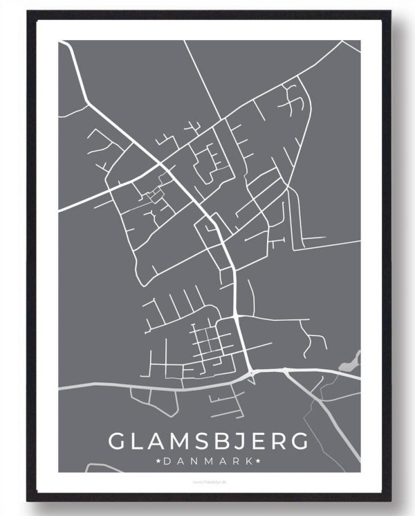 Glamsbjerg byplakat - grå
