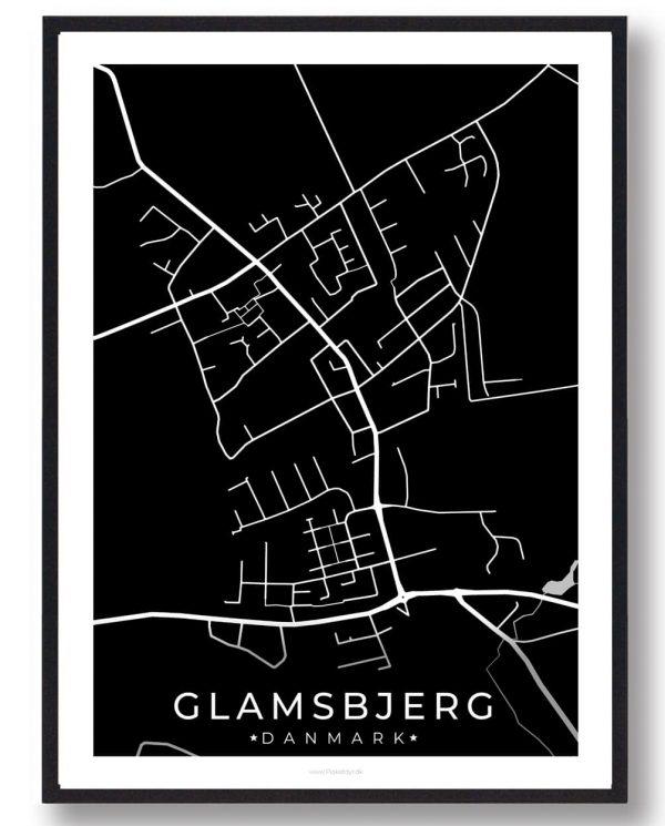 Glamsbjerg byplakat - sort