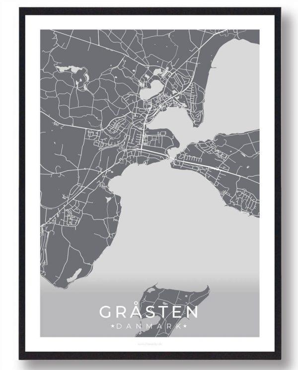 Gråsten plakat - grå