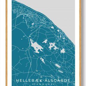 Hellebæk - Ålsgårde byplakat - blå
