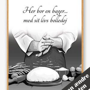 Her bor en bager... - plakat