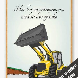 Her bor en entreprenør... - plakat