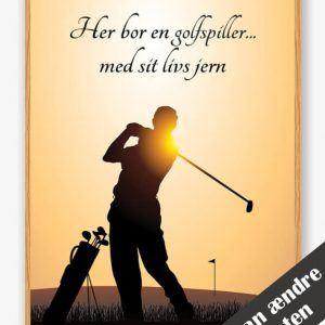 Her bor en golfspiller... (mand) - plakat