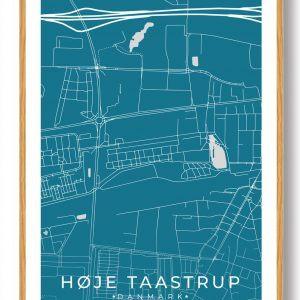 Høje-Taastrup byplakat - blå