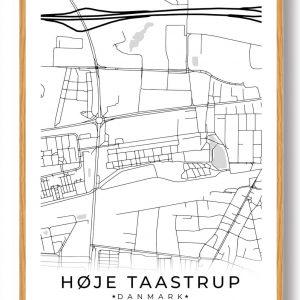 Høje-Taastrup byplakat - hvid