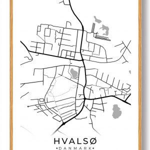 Hvalsø byplakat - hvid