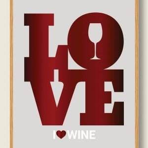I LOVE WINE - vinplakat