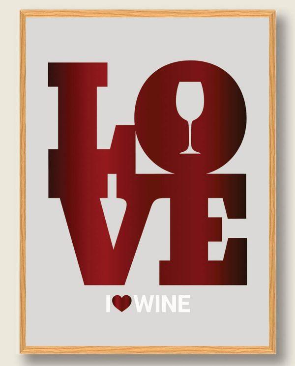I LOVE WINE - vinplakat