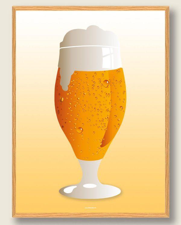 Ice cold beer - ølplakat