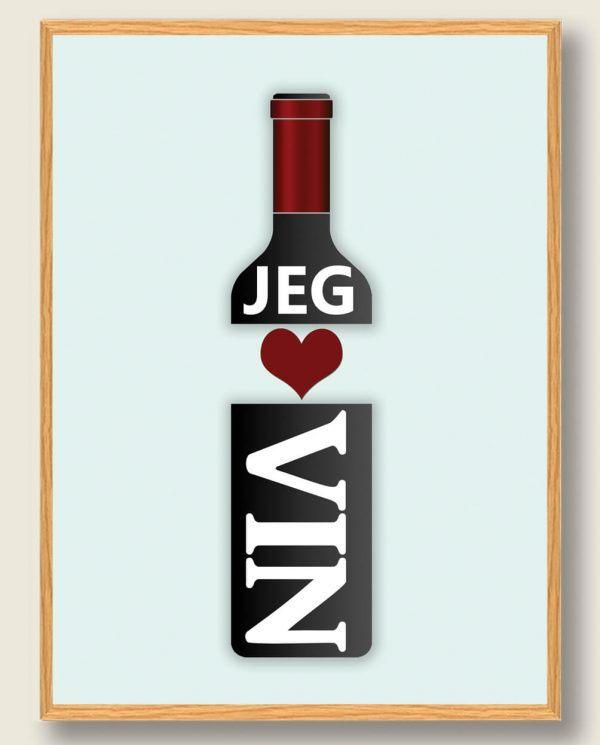 Jeg elsker vin - plakat