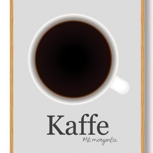 Kaffe - køkkenplakat