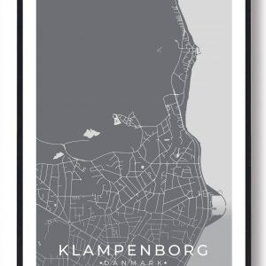 Klampenborg byplakat - grå