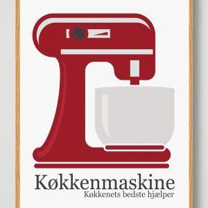 Køkkenmaskine - køkkenplakat