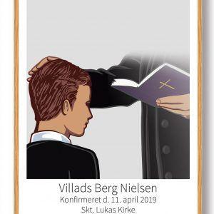 Konfirmationsgave til ham - plakat