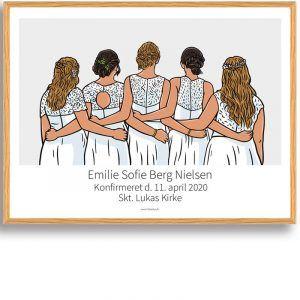 Konfirmationsgave til hende - plakat