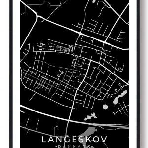 Langeskov byplakat - sort