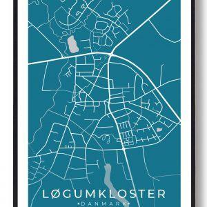 Løgumkloster plakat - blå