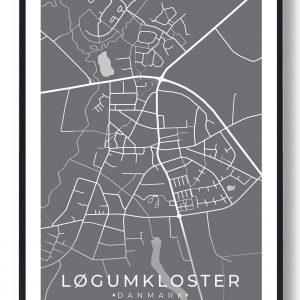 Løgumkloster plakat - grå