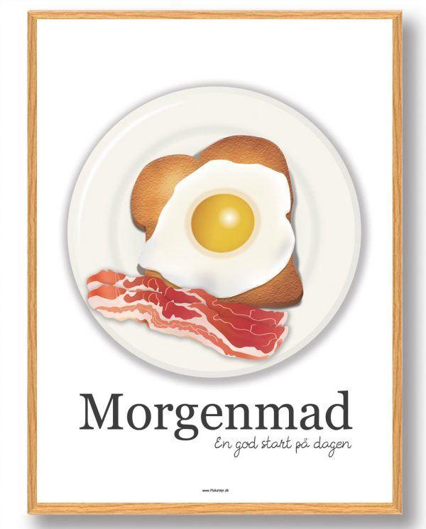 Morgenmad - køkkenplakat