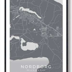 Nordborg plakat - grå
