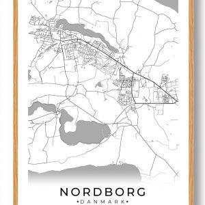 Nordborg plakat - hvid