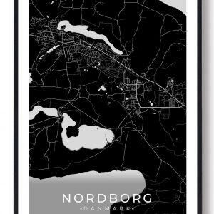 Nordborg plakat - sort