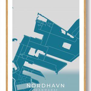 Nordhavn byplakat - blå