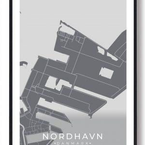 Nordhavn byplakat - grå