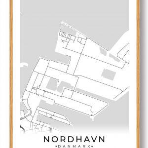 Nordhavn byplakat - hvid