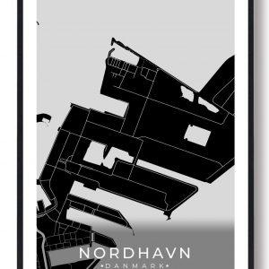 Nordhavn byplakat - sort