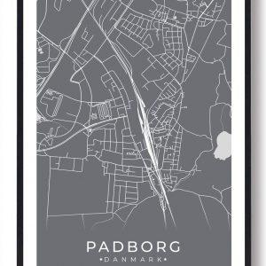 Padborg plakat - grå